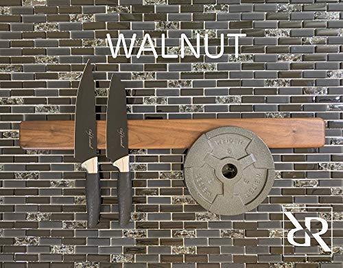Magnetic Knife Rack Walnut 18