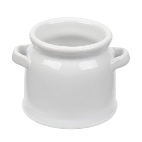 American Metalcraft CMP4 4 oz Short Mini Ceramic Milk Jug - 6Pack