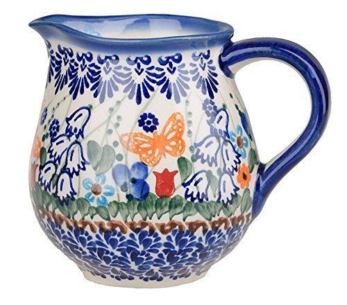 Classic Boleslawiec Pottery Hand Painted Ceramic Milk Cream Jug 250ml 514-U-099