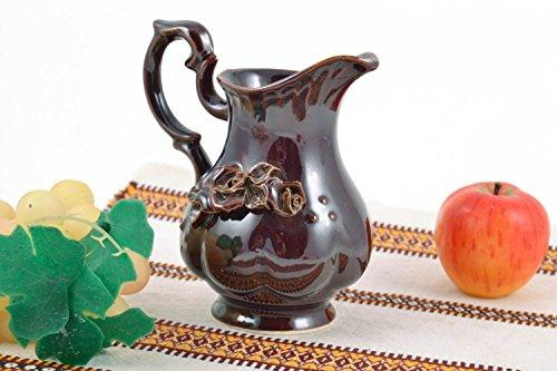 Handmade Designer Glazed Ceramic Milk Jug 250 Ml Eco Kitchenware