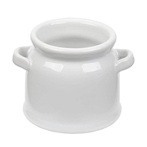 TableTop King CMP4 4 oz Short Mini Ceramic Milk Jug - 6Pack