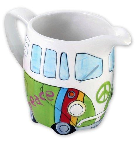 Volkswagen Merchandise - VW Camper Van  Bus - Ceramic Milk  Cream Jug  Dispenser Hippie Style
