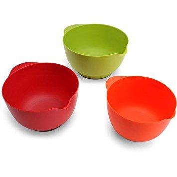 Farberware Set of 3 Mixing Bowls Assorted Colors