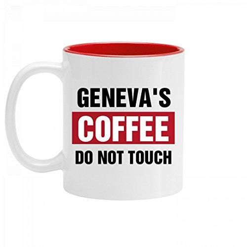 Genevas Coffee Do Not Touch 11oz Two Tone Ceramic Coffee Mug