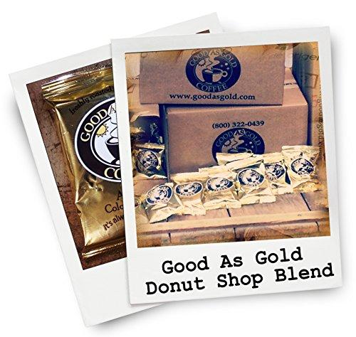Donut Shop Coffee Pouches Good As Gold Coffee 40  20oz Pre measured coffee packets Premium 100 Arabica Medium Roast Blend