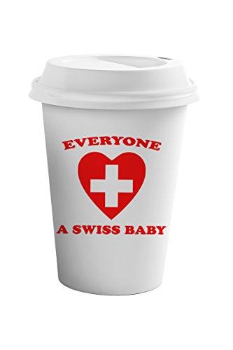 Style In Print Everyone Loves Swiss Coffee Ceramic Travel Tumbler Mug 11oz