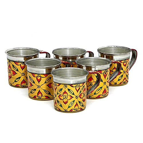 Indian Traditional Hand Painted Tea Set coffee box kitchenware Golden set