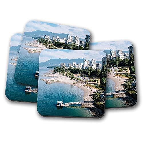4 Set - Beautiful Vancouver Coast Coaster - Canada City Travel Sea Gift 12865
