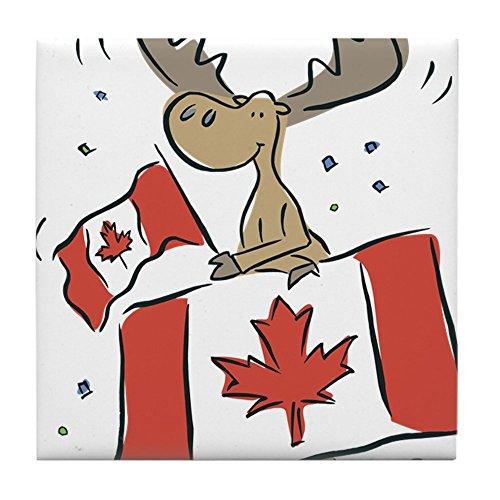 CafePress - Canada Day Moose - Tile Coaster Drink Coaster Small Trivet