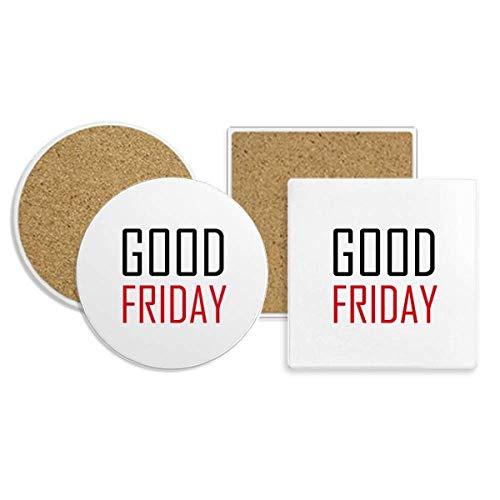 Celebrate Good Friday Canada Blessing Coaster Cup Mug Holder Absorbent Stone Cork Base Sets