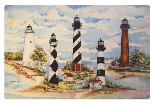 Carolina Lighthouses Washable Vinyl Placemats Set of Four