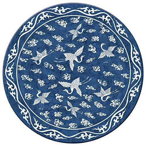 Hadley Table MING Blue Hard Placemats ROUND SET OF 4