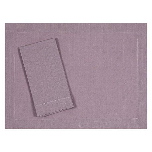 Heather Lavender Lilac Pure Linen Placemat 15x20 Set of Four
