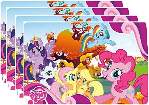 Zak Designs My Little Pony Kids Placemat Set of 4 Twilight Fluttershy Rainbow Dash Friends