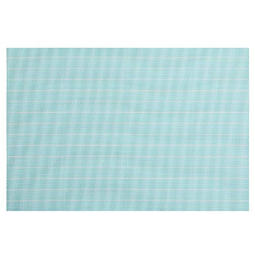 AbeTammy Dining Place 1222 Woven Vinyl Table Mats Placemat Blue and White
