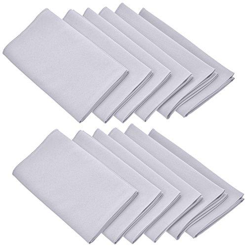 LinenTablecloth 17-Inch Polyester Napkins 1-Dozen White