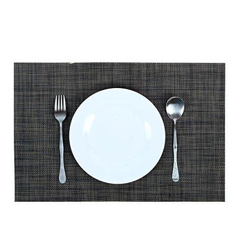 6Pcs PlacematsMuyee Table Mats New PVC Insulation Non-slip Insulation Washable Placemats Black