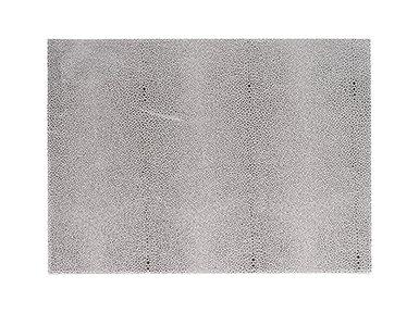 Metallic Dust PVC Faux Leather Placemat 13 X 18 Silver