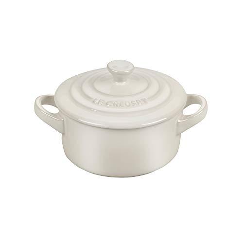 Le Creuset Metallic Meringue Enameled Stoneware 8 Ounce Mini Round Cocotte