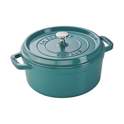 Staub 11024105 Cast Iron 4-qt Round Cocotte Turquoise