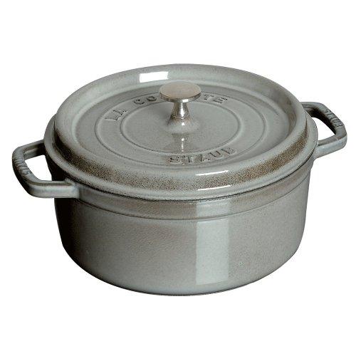 Staub 1102618 Round Cocotte 55 quart Graphite Grey