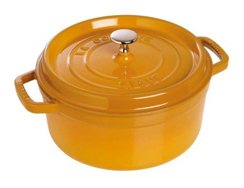 Staub Pico cocotte round 22cm mustard 40510-646