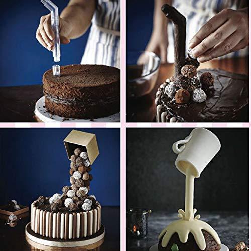Samoii Cake Maker Supply Cake Support Structure Frame Anti Gravity Cake Pouring Kit DIY Cake Handmade Baking Tools - 1 Set