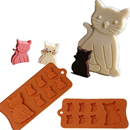 VWH Cute Cat Silicone Fondant Mold Cake Jelly Molds Kitchen Baking Tool Chocolate Mould Cake Baking Decorating Kits