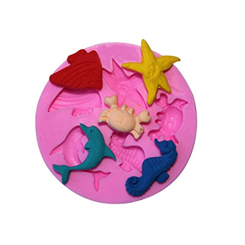 VWH Dolphin Silicone Fondant Mold Cake Jelly Molds Kitchen Baking Tool Chocolate Mould Cake Baking Decorating Kits