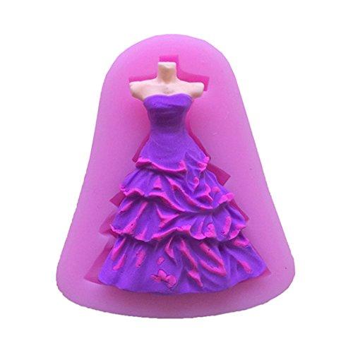 VWH Dress Silicone Fondant Mold Cake Jelly Molds Kitchen Baking Tool Chocolate Mould Cake Baking Decorating Kits