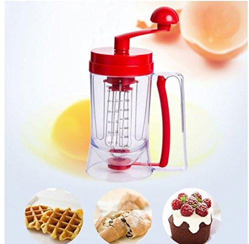Manual Pancake Batter Dispenser Cupcake Baking Essentials Cake Batter Kitchen Tools by shopidea