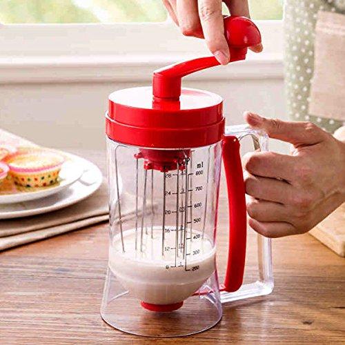 Manual Pancake Batter Dispenser Cupcake Baking Essentials Hand-cranked Cake Batt