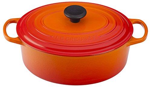 Le Creuset of America Enameled Cast Iron Signature Oval Dutch Oven 8 quart Flame
