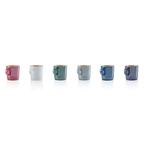 Le Creuset of America PG8025M-18MC Metallics Collection Set of 6 Coffee Mugs 1175oz