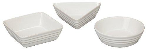 Le Creuset of America Stoneware 3 Piece Serving Dish Set White