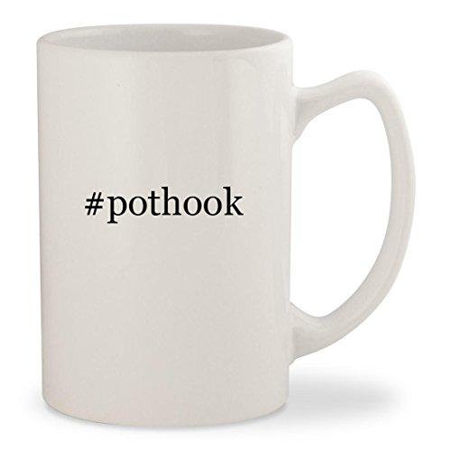 pothook - White Hashtag 14oz Ceramic Statesman Coffee Mug Cup