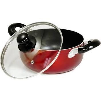 Better Chef Red 13-Quart Aluminum Dutch Oven Stock Pot