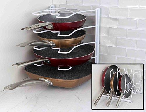 Home Basics Pan Organizer Rack White