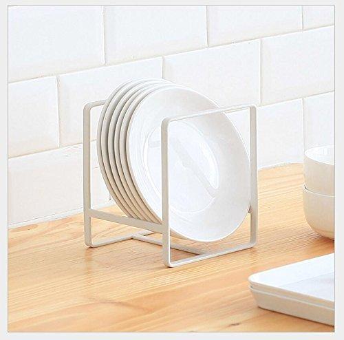 Kitchen Cabinet Pantry Organizer Pot Lid Pan Rack Holder White