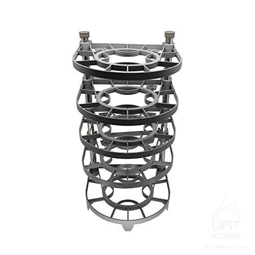 UPIT Height Adjustable Pan and Pot Lid Organizer Rack Holder