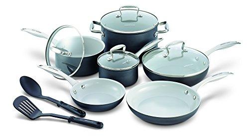 Greenlife 12 Piece Hard Anodized Non-stick Ceramic Classic Cookware Set