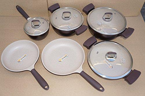 Third Generation Healthy Legend 10 Pcs Set Non-stick German Weilburger Ceramic Coating Cookware Set - Eco Friendly