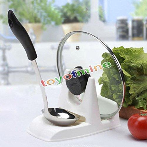MIJORA-Spoon Rack Rest Pot Pan Lid Rack Stand Holder Kitchen Cooking Utensil Tool