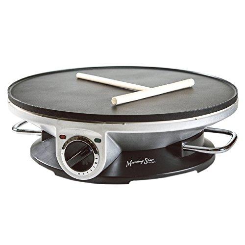 Morning Star - Crepe Maker Pro - 13 Inch Crepe Maker Electric Griddle - Non-stick Pancake Maker