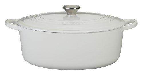 Le Creuset Enameled Cast-Iron 6-34-Quart Oval French Oven White
