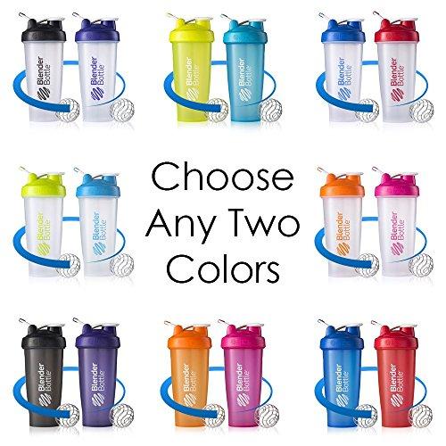Blender Bottle Classic 28 Oz Shaker W Loop Top Blue ClearRed Pack Of 2 TEJ
