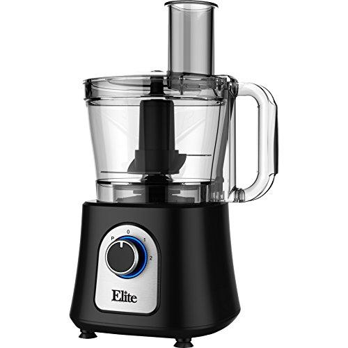 12 Cup Electric Food Processor 800 watts -BlackClear