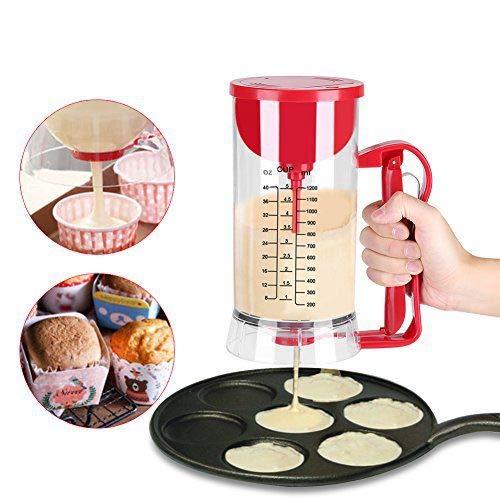 Electric Mixer Dispenser Cordless Battery Powered Cupcake Waffle Mixer Dispenser Pancake Batter Maker Machine