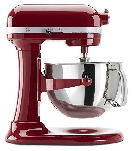 KitchenAid Professional 600 Series KP26M1XER Bowl-Lift Stand Mixer 6 Quart Empire Red