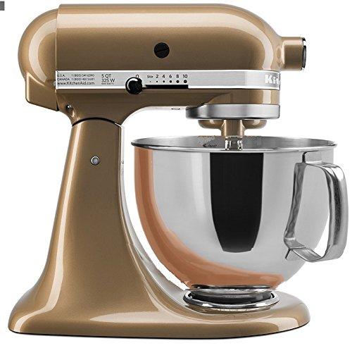 KitchenAid Stand Mixer Tilt Head 5-Quart RRK150CZ CERTIFIED REFURBISHED champagne Gold